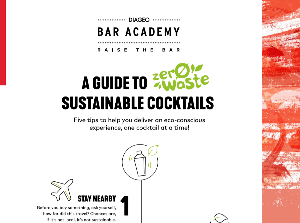 A GUIDE TO SUSTAINABLE COCKTAILS