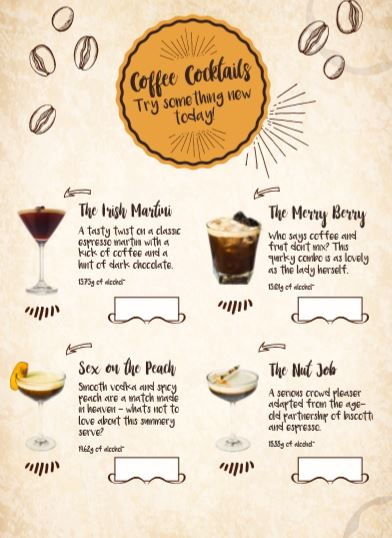 Coffee Cocktails - m