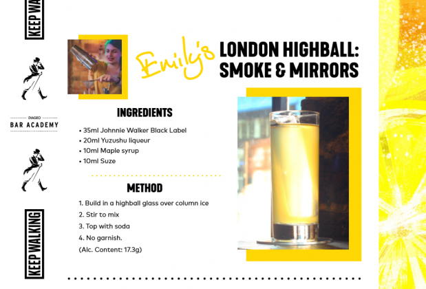 CITY HIGHBALL RECIPE CARD