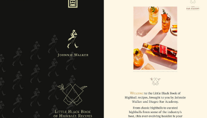 Johnnie Walker Little Black Book of Highballs