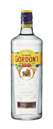 A bottle of Gordon's Gin