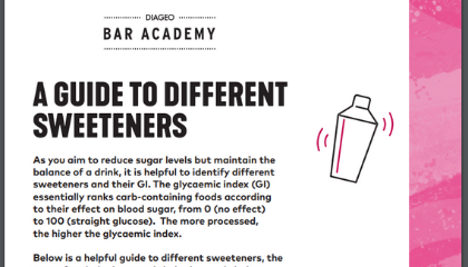 A GUIDE TO DIFFERENT SWEETENERS