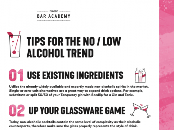TIPS FOR THE NO / LOW ALCOHOL TREND